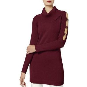 INC Women's  Neck Tunic Sweater Top $89
